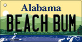 Beach Bum Alabama Background Key Chain Metal Novelty Wholesale