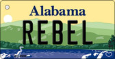Rebel Alabama Background Key Chain Metal Novelty Wholesale KC-9999