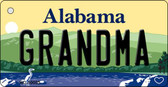 Grandma Alabama Background Key Chain Metal Novelty Wholesale