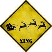 Santa Xing Novelty Metal Crossing Sign Wholesale