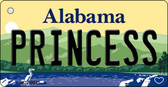 Princess Alabama Background Key Chain Metal Novelty Wholesale