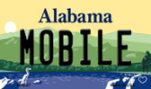 Mobile Alabama State Background Magnet Novelty Wholesale