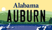 Auburn Alabama State Background Magnet Novelty Wholesale M-9991