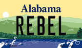 Rebel Alabama State Background Magnet Novelty Wholesale
