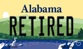 Retired Alabama State Background Magnet Novelty Wholesale