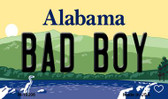 Bad Boy Alabama State Background Magnet Novelty Wholesale M-10006