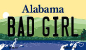 Bad Girl Alabama State Background Magnet Novelty Wholesale