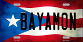Bayamon Puerto Rico Flag Background License Plate Metal Novelty Wholesale