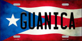 Guanica Puerto Rico Flag Background License Plate Metal Novelty Wholesale LP-11343