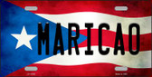 Maricao Puerto Rico Flag Background License Plate Metal Novelty Wholesale