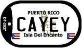 Cayey Puerto Rico Flag Dog Tag Kit Wholesale Metal Novelty Necklace