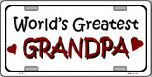World's Greatest Grandpa Wholesale Metal Novelty License Plate LP-274