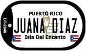 Juana Diaz Puerto Rico Flag Dog Tag Kit Wholesale Metal Novelty Necklace