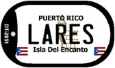 Lares Puerto Rico Flag Dog Tag Kit Wholesale Metal Novelty Necklace