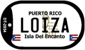 Loiza Puerto Rico Flag Dog Tag Kit Wholesale Metal Novelty Necklace
