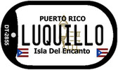 Luquillo Puerto Rico Flag Dog Tag Kit Wholesale Metal Novelty Necklace