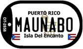 Maunabo Puerto Rico Flag Dog Tag Kit Wholesale Metal Novelty Necklace