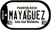 Mayaguez Puerto Rico Flag Dog Tag Kit Wholesale Metal Novelty Necklace