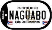 Naguabo Puerto Rico Flag Dog Tag Kit Wholesale Metal Novelty Necklace