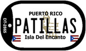 Patillas Puerto Rico Flag Dog Tag Kit Wholesale Metal Novelty Necklace