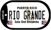 Rio Grande Puerto Rico Flag Dog Tag Kit Wholesale Metal Novelty Necklace