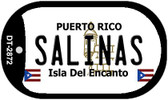 Salinas Puerto Rico Flag Dog Tag Kit Wholesale Metal Novelty Necklace