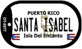 Santa Isabel Puerto Rico Flag Dog Tag Kit Wholesale Metal Novelty Necklace
