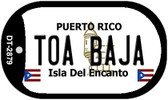 Toa Baja Puerto Rico Flag Dog Tag Kit Wholesale Metal Novelty Necklace