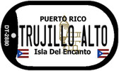 Trujillo Alto Puerto Rico Flag Dog Tag Kit Wholesale Metal Novelty Necklace