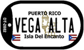 Vega Alta Puerto Rico Flag Dog Tag Kit Wholesale Metal Novelty Necklace
