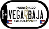 Vega Baja Puerto Rico Flag Dog Tag Kit Wholesale Metal Novelty Necklace