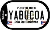 Yabucoa Puerto Rico Flag Dog Tag Kit Wholesale Metal Novelty Necklace