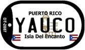 Yauco Puerto Rico Flag Dog Tag Kit Wholesale Metal Novelty Necklace