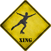 Figure Skater Xing Novelty Metal Crossing Sign Wholesale