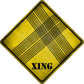 Tire Tracks Xing Novelty Metal Crossing Sign Wholesale