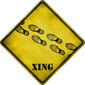 Footprints Xing Novelty Metal Crossing Sign Wholesale