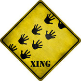 Handprints Xing Novelty Metal Crossing Sign Wholesale