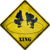 Sumo Wrestler Ring Xing Novelty Metal Crossing Sign Wholesale