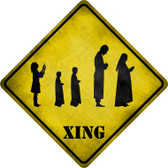 Group Praying Xing Novelty Metal Crossing Sign Wholesale