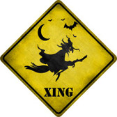 Spooky Witch Xing Wholesale Novelty Metal Crossing Sign CX-219