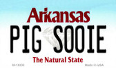 Pig Soonie Arkansas State License Plate Magnet Novelty Wholesale M-10038