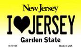 I Love Jersey New Jersey State License Plate Wholesale Magnet