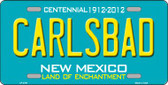Carlsbad New Mexico Teal Wholesale Novelty Metal License Plate LP-2791