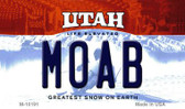 Moab Utah State License Plate Wholesale Magnet