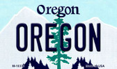 Oregon State License Plate Wholesale Magnet