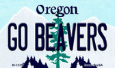 Go Beavers Oregon State License Plate Wholesale Magnet