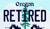 Retired Oregon State License Plate Wholesale Magnet