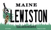 Lewiston Maine State License Plate Wholesale Magnet