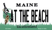 At The Beach Maine State License Plate Wholesale Magnet