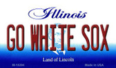 Go White Sox Illinois State License Plate Wholesale Magnet